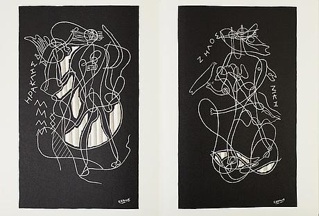 """DerriÈre le miroir, second edition,""""sur quatre murs"""", no. 36-37-38, 1951."""