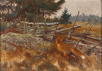 BRUNO LILJEFORS, BRUNO LILJEFORS, oil on canvas, signed and dated 1912.