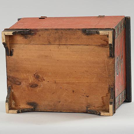 A folk art box from bjuråker hälsingland marked jmbd 1837