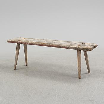A Swedish 19th century Folk Art bench from Hälsingland.