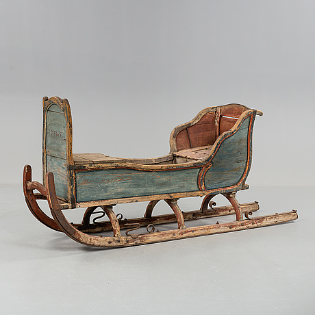 A folk art sleigh forsa, hälsingland 1785