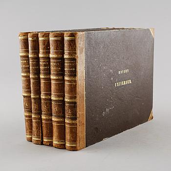 BÖCKER, 5 volymer, Meyer's Universum, Bibliographischen Institut, 1835-38.