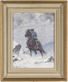 ALEXANDER LANGLET, An oilpainting by Alexander Langlet, signed and dated -45.