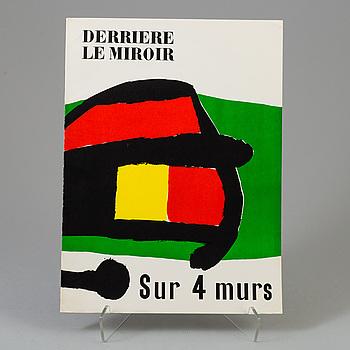 """DERRIÈRE LE MIROIR, """"Sur 4 murs"""", No. 107-108-109, 1959."""