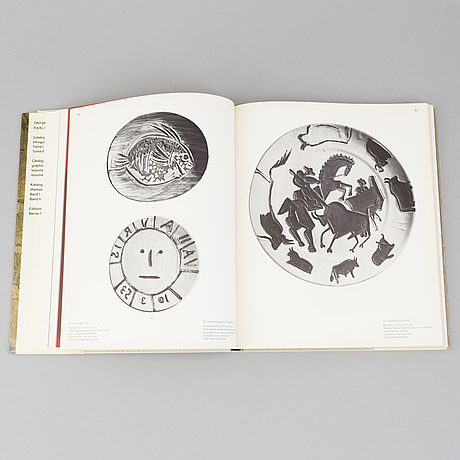 """Book, """"picasso, vol. iii, catalogue of the printed ceramics 1949 -1971."""" georges bloch."""