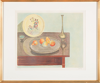 EINAR JOLIN, EINAR JOLIN, coloured lithograph, signed, no 211/360.