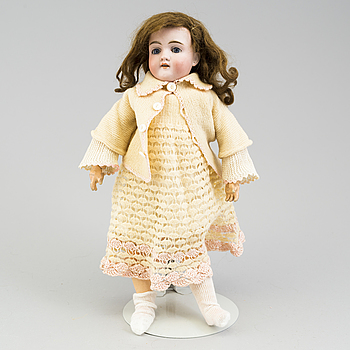 """a Kley & Hahn """"Walküre"""" porcelain doll from the early 20th century."""