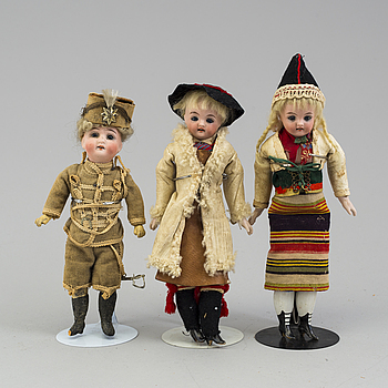 three German porcelain dolls from the 1910-/1920's.