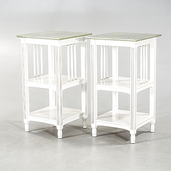 A pair of bedside tables from the first half of the 20th century.