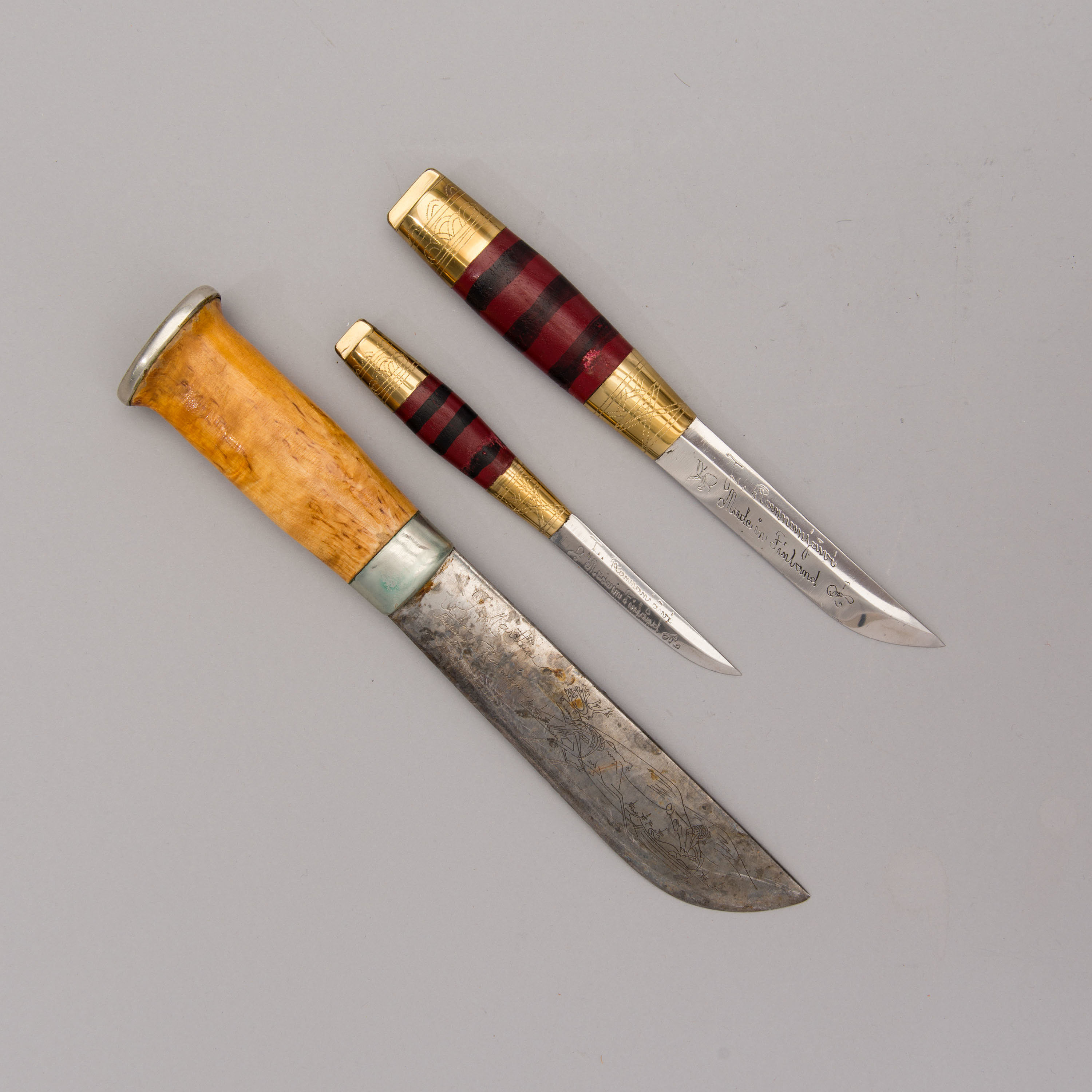 Three Finnish knives from Lapland, latter part of the 20th