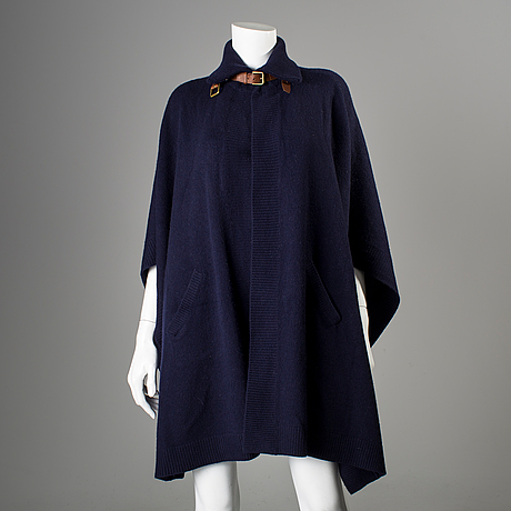 A wool and cashmere poncho by ralph lauren