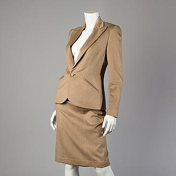DRÄKT, 2 delar bestående av kjol och kavaj, Ralph Lauren, storlek 6.