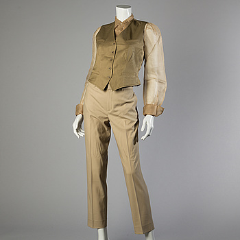 Trousers, shirt and west by Ralph Lauren.
