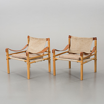 """ARNE NORELL, ARNE NORELL, A PAIR OF ARMCHAIRS """"SIROCCO"""" FROM THE SECOND HALF OF 20TH CENTURY."""