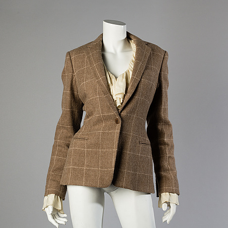 Alpaca jacket by ralph lauren and two blouses