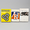 Books, 12 pcs, on contemporary art and theory.