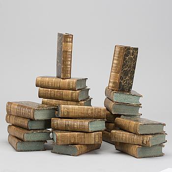 BIBLIOTHEQUE GEOGRAPHIQUE DE LA JEUNESSE, 24 VOL. By M.Breton 1827.