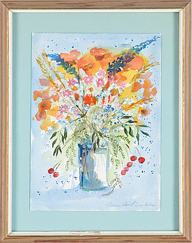 LENA LINDERHOLM, akvarell, signerad.