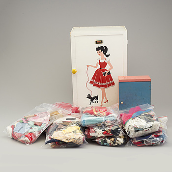 a big lot of assorted Barbie clothes and accessories, Mattel and others, 1960's.