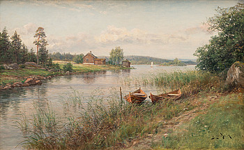 BERNDT LINDHOLM, oil on canvas, signed and dated 1901.