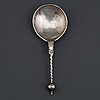 A norwegian 17th century silver spoon, mark of oluf jorgensen (bergen 1650-1700).