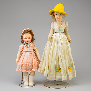 2 dolls from the 1920-30's.