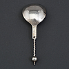 A norwegian possibly 17th century silver spoon, unidentified mark.