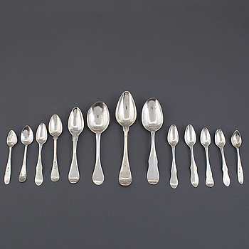 SKEDAR, 13 st, silver, bland annat Carl Fredrik Seseman, Arboga, 1792.