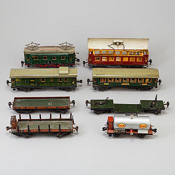 a set of 8 Märklin parts 1930's.