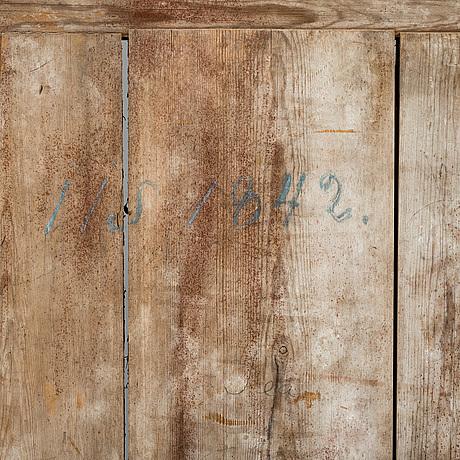 A pine door from around 1800.