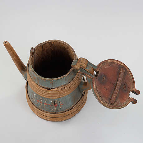 A swedish wooden jar from the 19th century