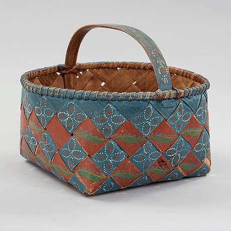 A swedish basket from the middle of the 19th century