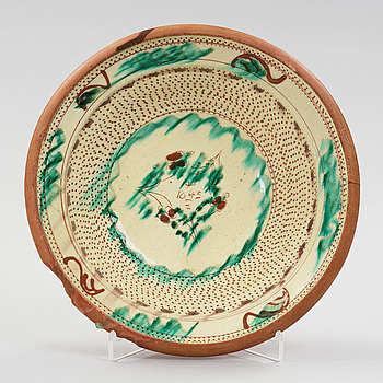 a earthenware plate dated 1843.