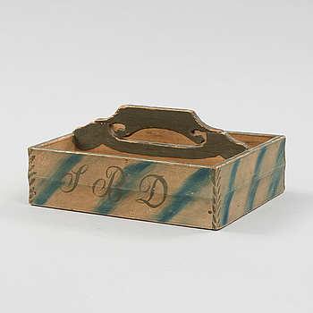a swedish wood box dated 1868.