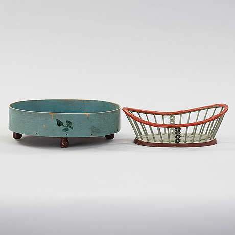 Two baskets from the 19th century