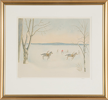 EINAR JOLIN, EINAR JOLIN, lithograph in colours, signed and numbered 174/360.