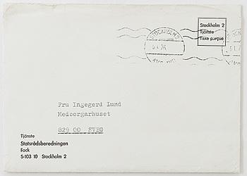 BREV, undertecknat av Olof Palme och daterat 5 januari 1976.