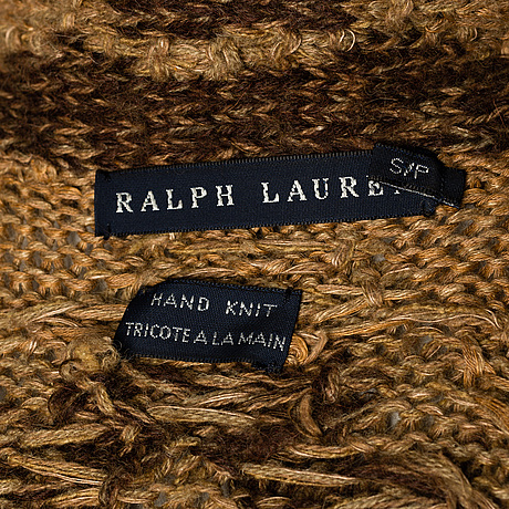 A handknitted long cardigan by ralph lauren, size s