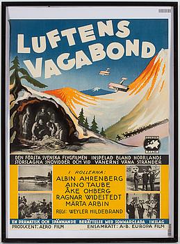 FILMAFFISCH, Luftens Vagabond, 1933.