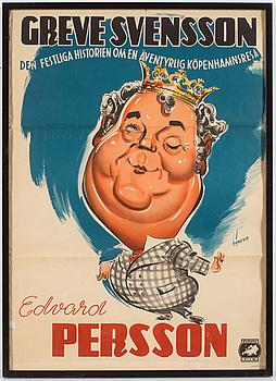 "FILMAFFISCH, ""Greve Svensson"", 1950-tal."