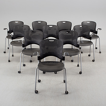JEFF WEBER, karmstolar, 10 st, Caper Chair, Herman Miller, 2000-tal.