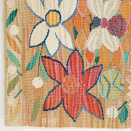 "Ann-mari lindbom, gift forsberg, a textile, ""bilöpare"", a tapestry variant, ca 32 x 87 cm, signed amf."
