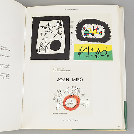 "Joan mirÒ, ""joan miró lithographies"", volume i-ii, maeght, paris."