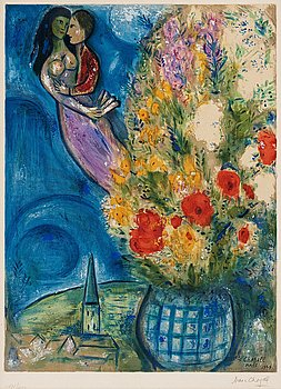 MARC CHAGALL After, MARC CHAGALL, Lithograph in colours, 1949, signed in pencil and numbered 272/400.