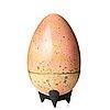 Hans hedberg, a faience sculpture of an egg, biot, france.