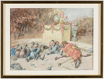 ROBERT HÖGFELDT, akvarell på papper, signerad R. Högfeldt.