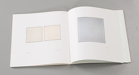Agnes martin. paintings and drawings : stedelijk museum portfolio (10 lithographs). 1990.