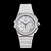 Omega, constellation, double eagle, co-axial, chronometer, chronograph, wristwatch, 35 mm,