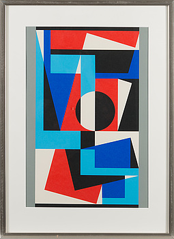 LARS-GUNNAR NORDSTRÖM, serigraph, signed, marked H.C. and dated -78.