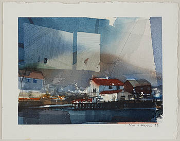 LARS LERIN, LARS LERIN, watercolor, signed and dated -93.
